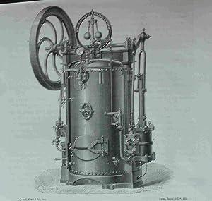 Machine a Vapeur Transportable, Ou Locomobile Industrielle