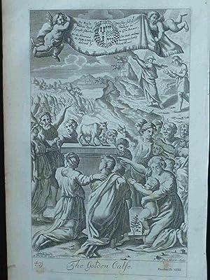 The Golden Calfe. F.H. Van Hove. 1690. Original engraved print