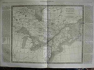 Canada, New Brunswick and Nova Scotia. Map.