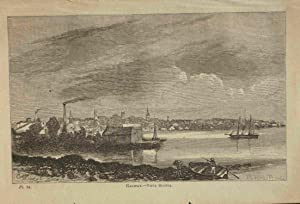 Halifax. Nova Scotia. Original engraved print