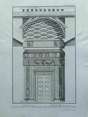 Laqueares cedrini:Sectio Ad Ostium Sanctissimi. Dachstuhls=Dielen:Thür Zum: Fridrich, I.A.; Scheuchzer,