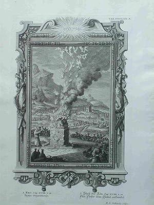 Ignis. Elia Opfer Vom Himmel Entzündet. Scheuchzer-Bibel.: Sedletzky, B.S.; Scheuchzer,
