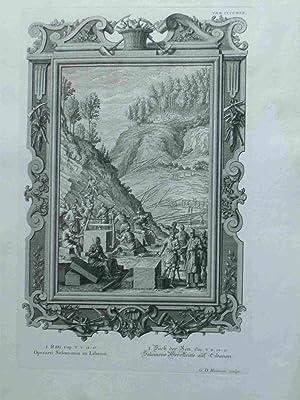 Operarii Salomonis in Libano. Salomons Werckleute Auf: Heuman, G.D.; Scheuchzer,