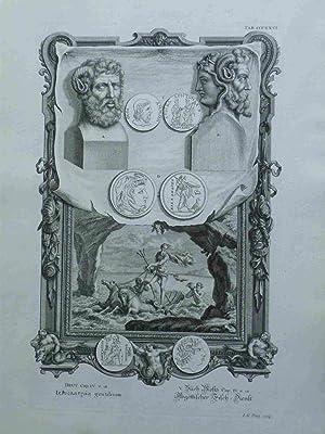 Abgöttlicher Fisch-Dienst. Scheuchzer-Bibel. PHYSICA SACRA. 1731. Original: Pintz, I.G.; Scheuchzer,