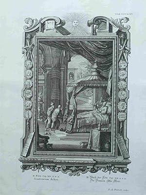 Sciatericum Achaz. Die Sonnen-Uhr Ahas. Scheuchzer-Bibel. PHYSICA: Fridrich, I.A.; Scheuchzer,