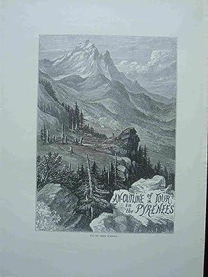 Pic Du Midi D'Ossau. Engraving