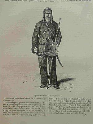 Un Guerrier De L'aoul Khevsour. Engraving