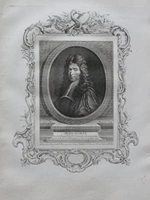 Engraved Portrait of Jean Domat: Domat, Jean (1625-1696)