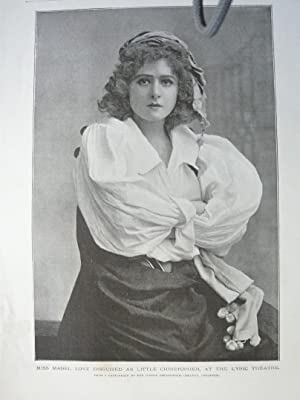 Miss Mabel Love Disguised as Little Christopher,