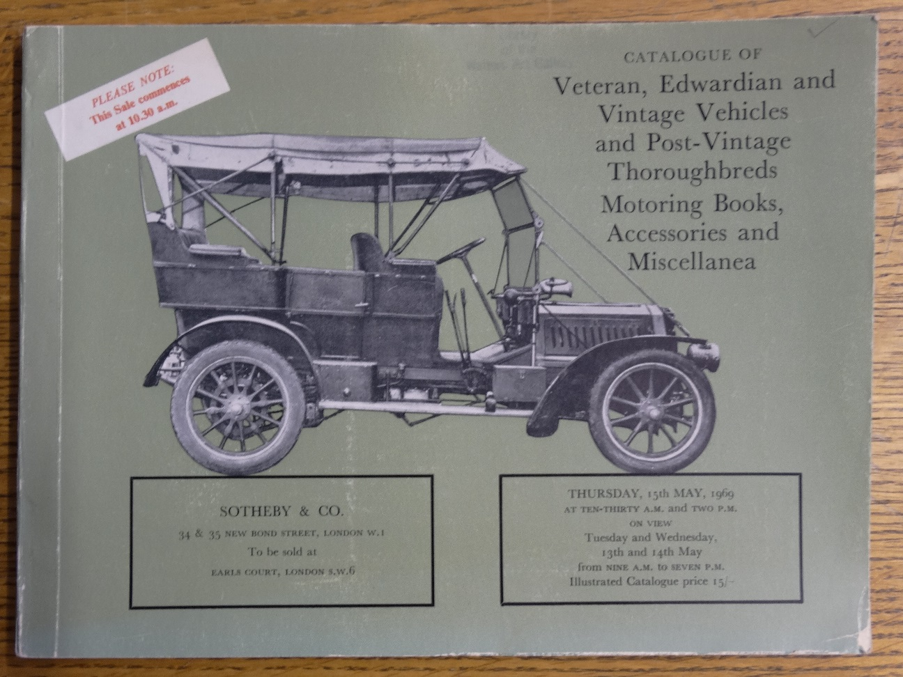 Catalogue of Veteran, Edwardian and Vintage Vehicles and Post ...
