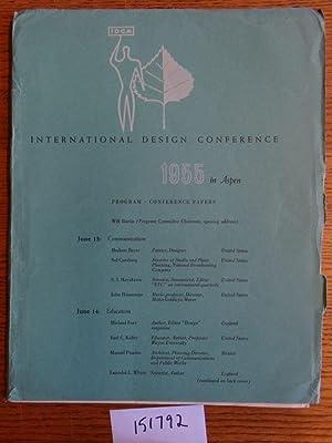 International Design Conference, 1955 in Aspen: Program,
