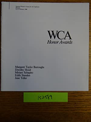 WCA Honor Awards: Margaret Taylor Burroughs, Dorothy: Women's Caucus for
