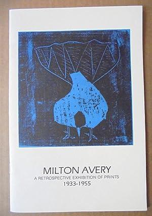 Milton Avery: A Retrospective Exhibition of Prints,: Avery, Sally