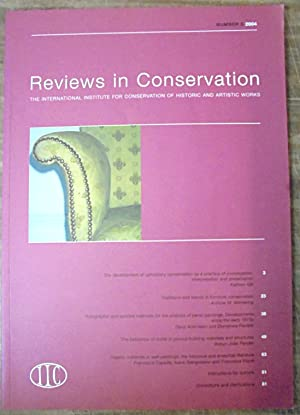 Reviews in Conservation the International Institute for Conservation of Historic and Artistic Wor...