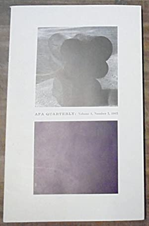 The Role of Government in Art Today : AFA Quarterly : Volume 1, Number 3, 1963