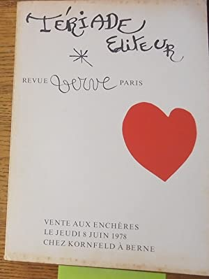 Tériade éditeur, Revue Verve, Livres Illustrés du: Kornfeld und Klipstein