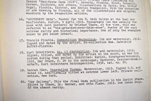 Dada '291' - 1924 : retrospective: Huelsenbeck, Richard and