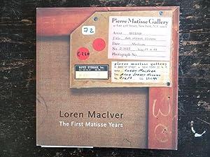 Loren MacIver: The First Matisse Years: Frankenberg, Lloyd