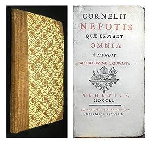 Nepotis quae extant omnia a mendis accuratissime expurgate.: NEPOS, Cornelius