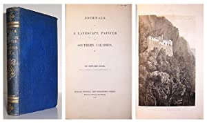Journals of a landscape painter in southern Calabria.: LEAR, Edward