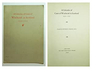 A calendar of cases of witchcraft in Scotland, 1510-1727.
