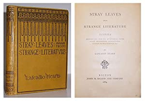Stray leaves from strange literature.: HEARN, Lafcadio