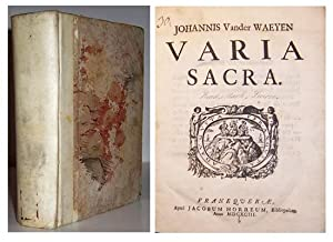 Varia sacra.: VAN der WAEYEN, Johann