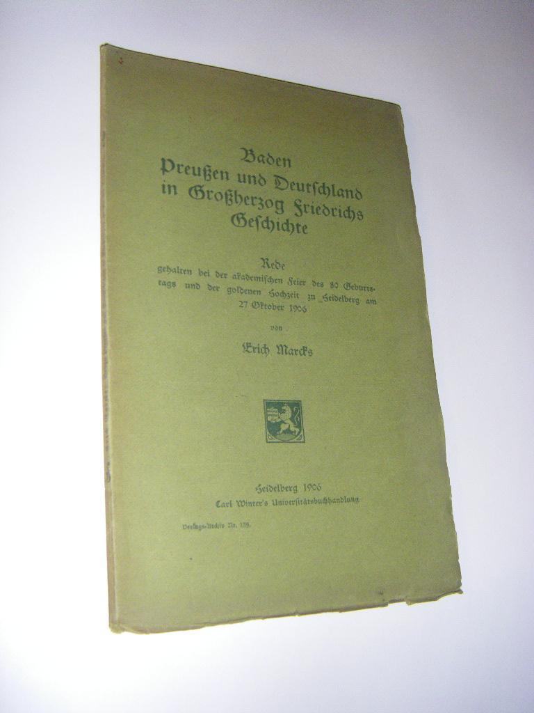 Baden Preußen Und Deutschland In Großherzog