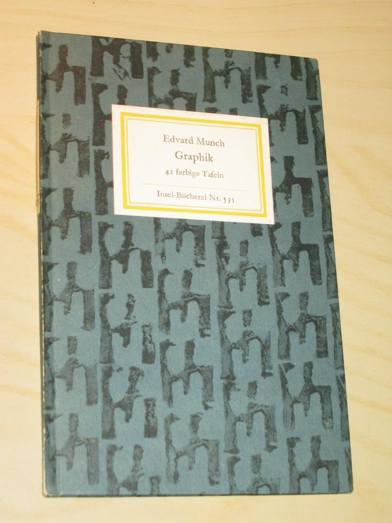 42 Bildtafeln (Insel-Bücherei Nr. 535): Munch, Edvard