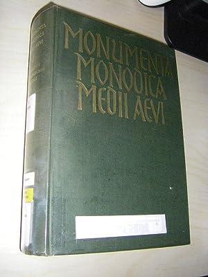 Monumenta Monodica Medii Aevi. Band II: Die: Stäblein, Bruno (Einf.)