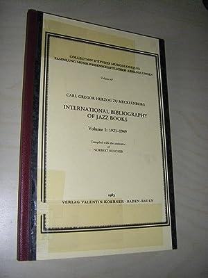 International Bibliography of Jazz Books. Volume I: Mecklenburg, Carl Gregor