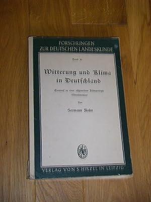 Witterung und Klima in Deutschland. Entwurf zu: Flohn, Hermann