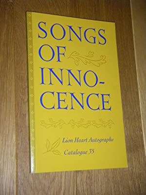 Songs of Innocence. Catalogue Thirty-five (35). Lion Heart Autographs