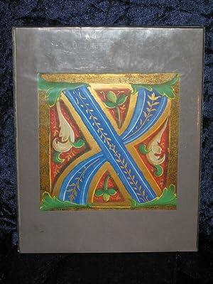 Initiale X. Codex Ross. 605, Fol. 69.
