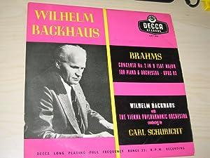 Concerto No. 2 in B Flat Major: Brahms, Johannes/Wilhelm Backhaus/The