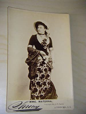 Amalie Materna Osterreichische Opern Sopranistin 1844