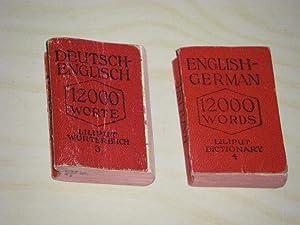 Deutsch-Englisch. 12000 Worte/English-German. 12000 Words (2 Bände): Wershoven, F. J.