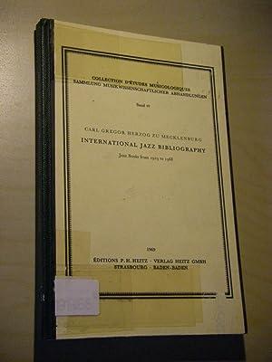 International Jazz Bibliography. Jazz Books from 1919: Mecklenburg, Carl Gregor
