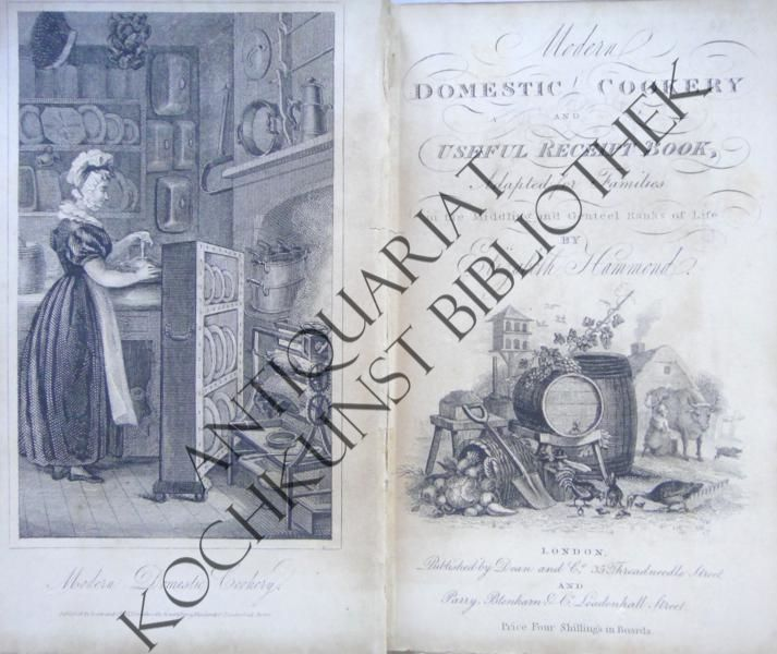 Modern domestic cookery; and useful receipt book.: HAMMOND, Elizabeth: