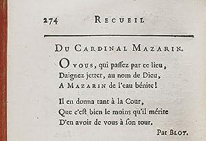 Recueil d?épitaphes sérieuses, badines, satiriques et burlesques: LA PLACE (Pierre-Antoine