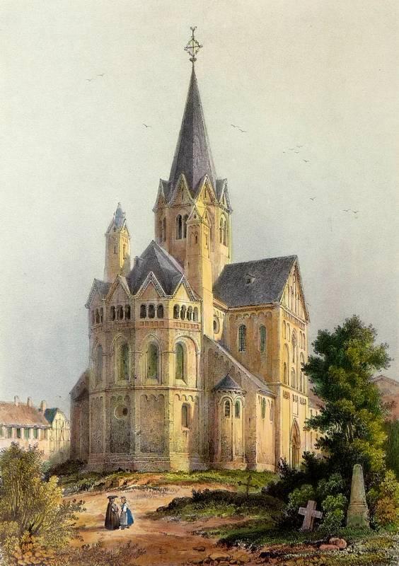 "Sinzig. - St. Peter. - ""Eglise de Sinzig"".: Nicolas-Marie-Joseph Chapuy"