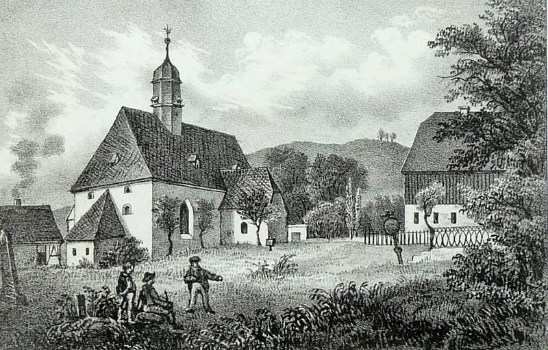 Jahnsdorf Teilansicht Mit Pfarrkirche Sachsens Kirchen Galerie