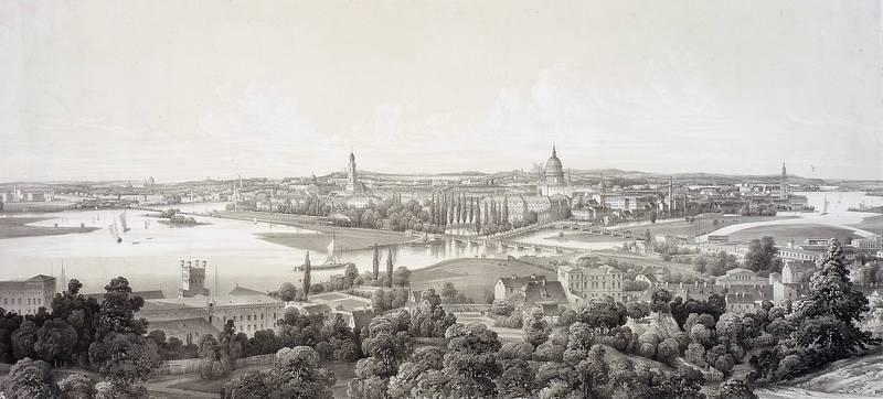 "Potsdam. - Panoramaansicht. - ""Potsdam ""."