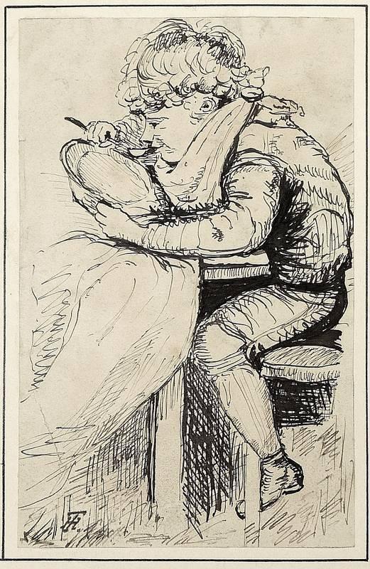 """Theodor Hosemann. - """"Zu Tisch""""."""
