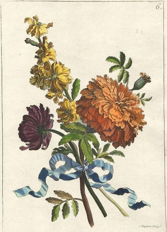 Monnoyer, Jean Baptiste. - Blumen-Bouquet Nr. 6.