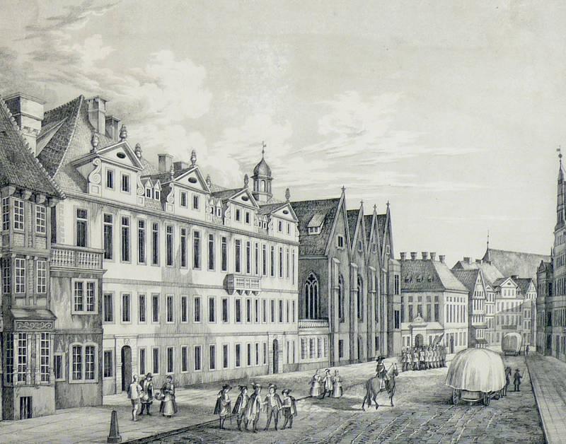 """Hannover. - Ansicht. - """"""""Das Schloss zu Hannover im 17. Jahrhundert""""""""."""