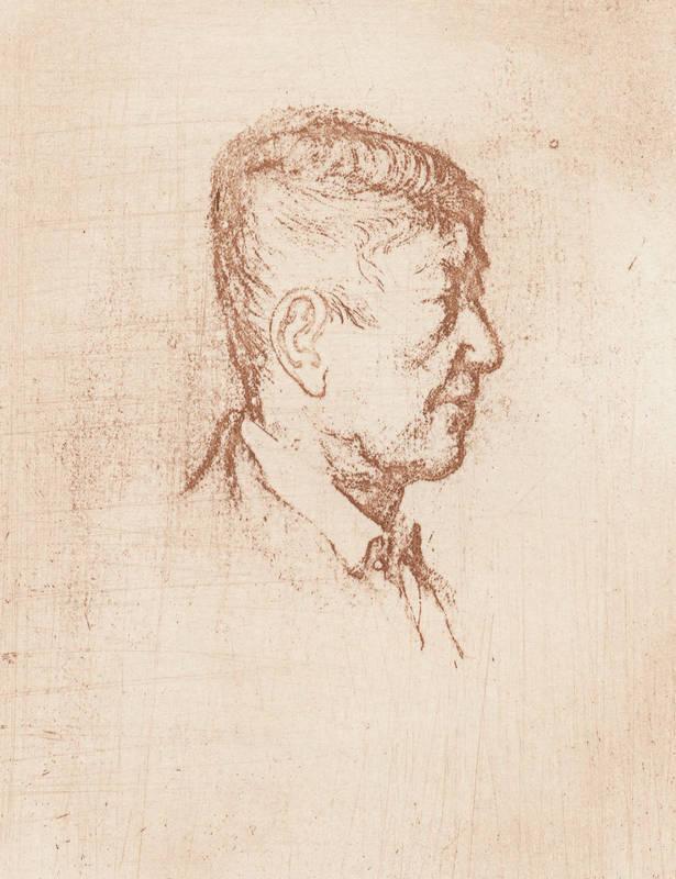 "Otto Kokoschka. - Porträt. - Joan Barbarà. - """"Otto Kokoschka""""."