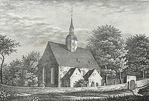 """Ruppendorf. - Malerische Ansicht der Dorfkirche. - Sachsens Kirchen-Galerie. - """"Kirche zu ..."""
