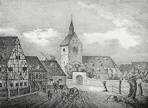"""Weinböhla. - Teilansicht mit Kirche. - Sachsens Kirchen-Galerie. - """"Kirche zu Weinbö..."""