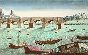 """Rouen. - Brücken über die Seine. - Guckkastenblatt. - """"Le Pont de pierre et le Pont ..."""